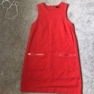 Madewell shift dress- size small. Poppy/orange